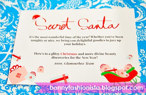 secret santa email template - bonny fashionista unboxing my secret santa glamourbox