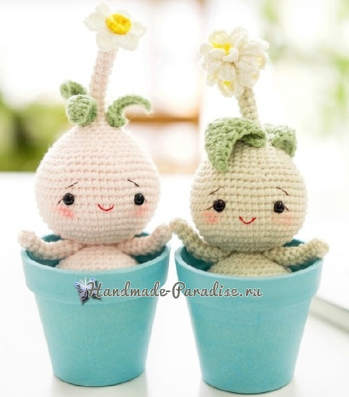 Crochet Amigurumi Spring Bulb Flower Doll - Free Pattern