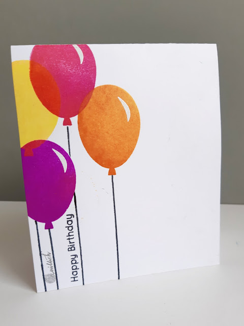 CAS card, Uniko Ltd, Birthday card, Quillish, Uniko stamp balloon bash, balloon card, stamping balloons, cards by ishani