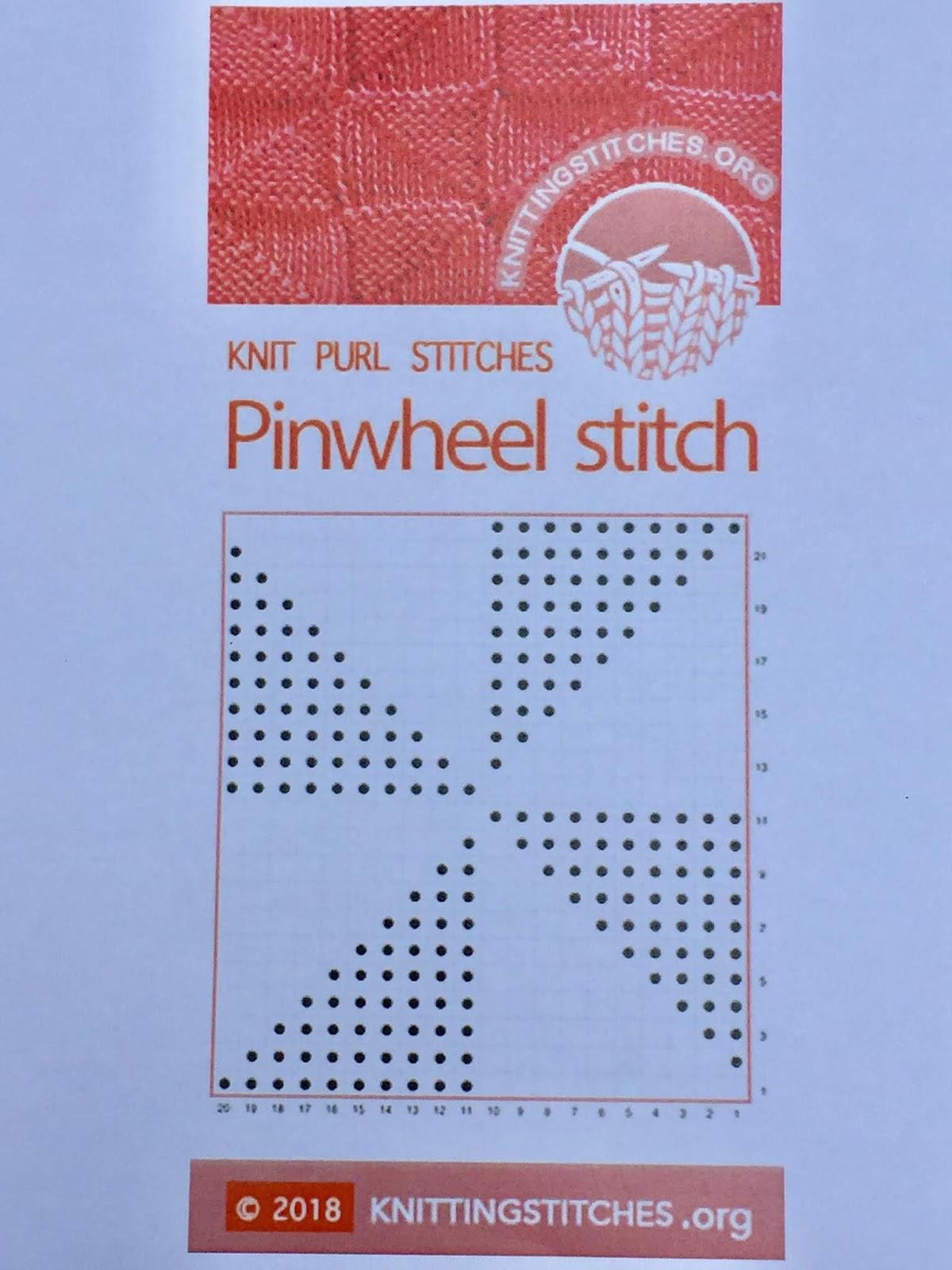 Knitting Stitch 2018 - Pinwheel Knit Purl Reversible