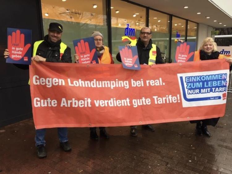 Ver Di Bei Real Flugblattverteilaktion Im Bezirk Westfalen