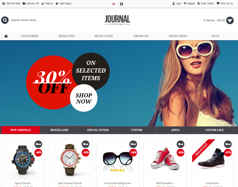 Nice Journal Opencart Template Pictures  Top 10 Best