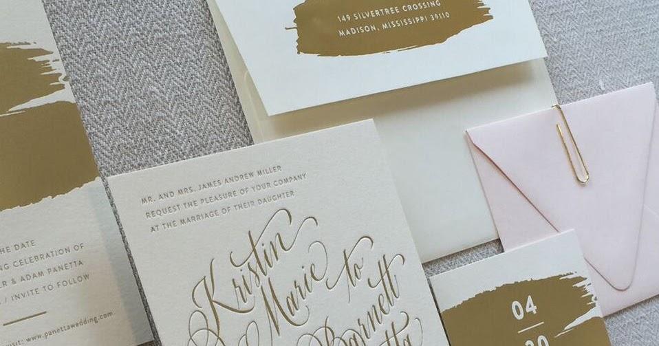 Wedding Invitations Jackson Ms: Kristin Miller And Adam Panetta Wedding Invitations