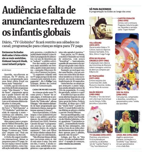 Telejornais E Crianças No Brasil: Folha De São Paulo