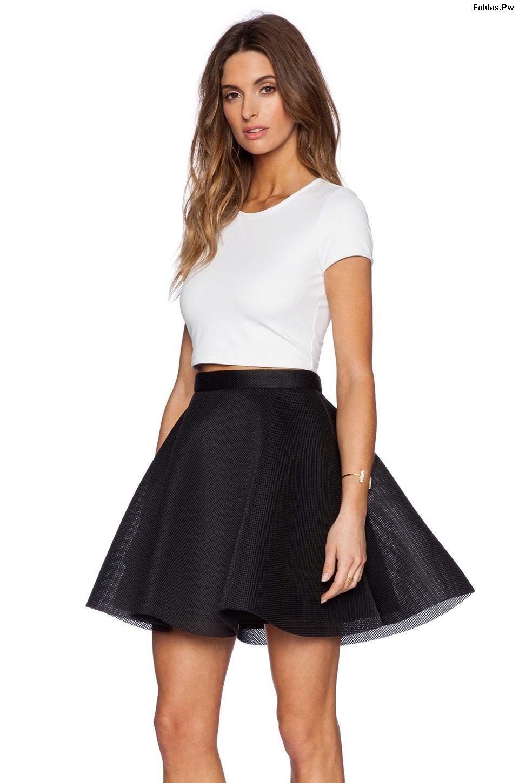 Faldas Negras De Vestir 26 Exclusivas Propuestas Faldas
