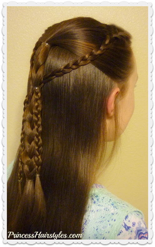 Quick and Easy Hairstyle For School - Simple Gathered Braids ...