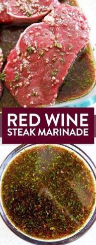 Red Wine Steak Marinade