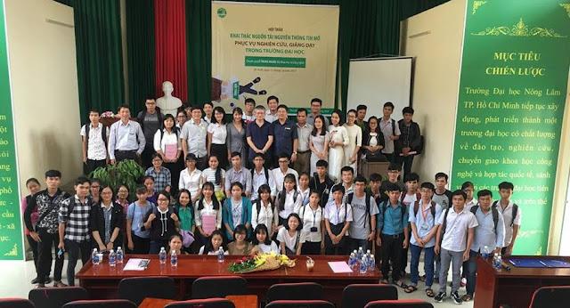 Hội thảo 'Khai thác nguồn tài nguyên giáo dục mở phục vụ nghiên cứu và giảng dạy' tại đại học Nông Lâm thành phố Hồ Chí Minh