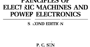 P C Sen Principles Of Electric Machines And Power