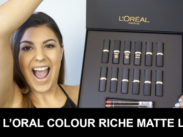L'Oreal Colour Riche Matte Lipsticks Swatches and Review