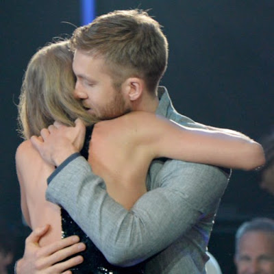 Taylor Swift and Calvin Harris After Winning the Award