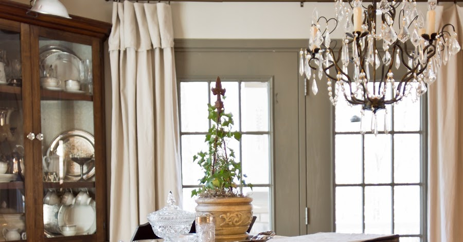 Far Above Rubies Drop Cloth Curtains And New Gray Paint
