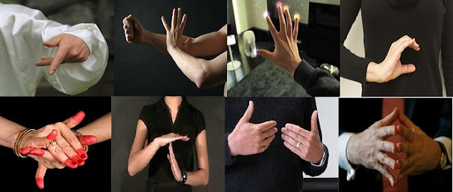 Using hand gestures to sparkle acting performance