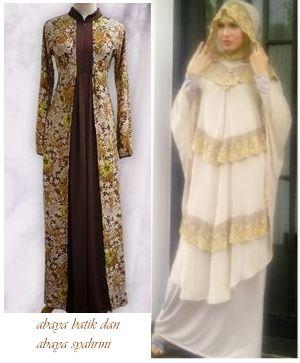 Model abaya batik dan abaya syahrini