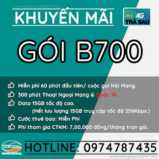 B700 - GÓI KHUYẾN MÃI TRẢ SAU VIETTEL B700