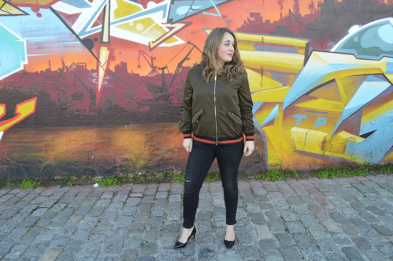 bomber zara love your life look blog bordeaux