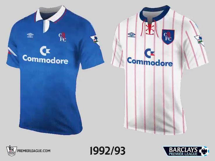 sale retailer 9eb64 2df5c All 20 Teams' First Premier League Kits - Footy Headlines