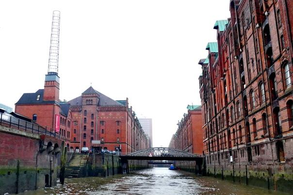 Speicherstadt, Hamburg, Lagerhäuser, Brücke, Kanal, Speicher, alt, industrie