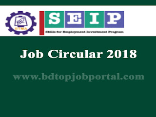 BTMA-SEIP Project Job Circular 2018