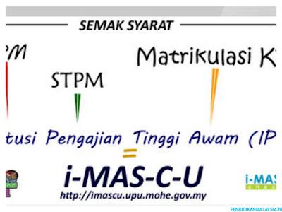 i-MASCU: Semakan Syarat Kelayakan Permohonan UPU
