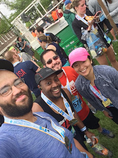 BroadStreetRun - selfie with RWRunStreak group