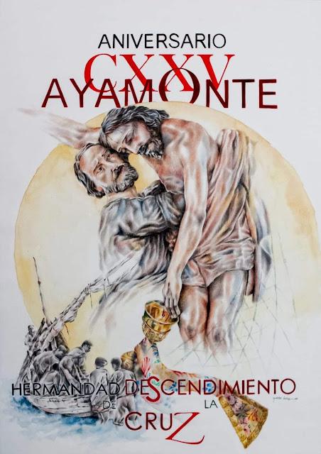 Cartel del CXXV aniversario de la Hermandad Santo Entierro de Ayamonte