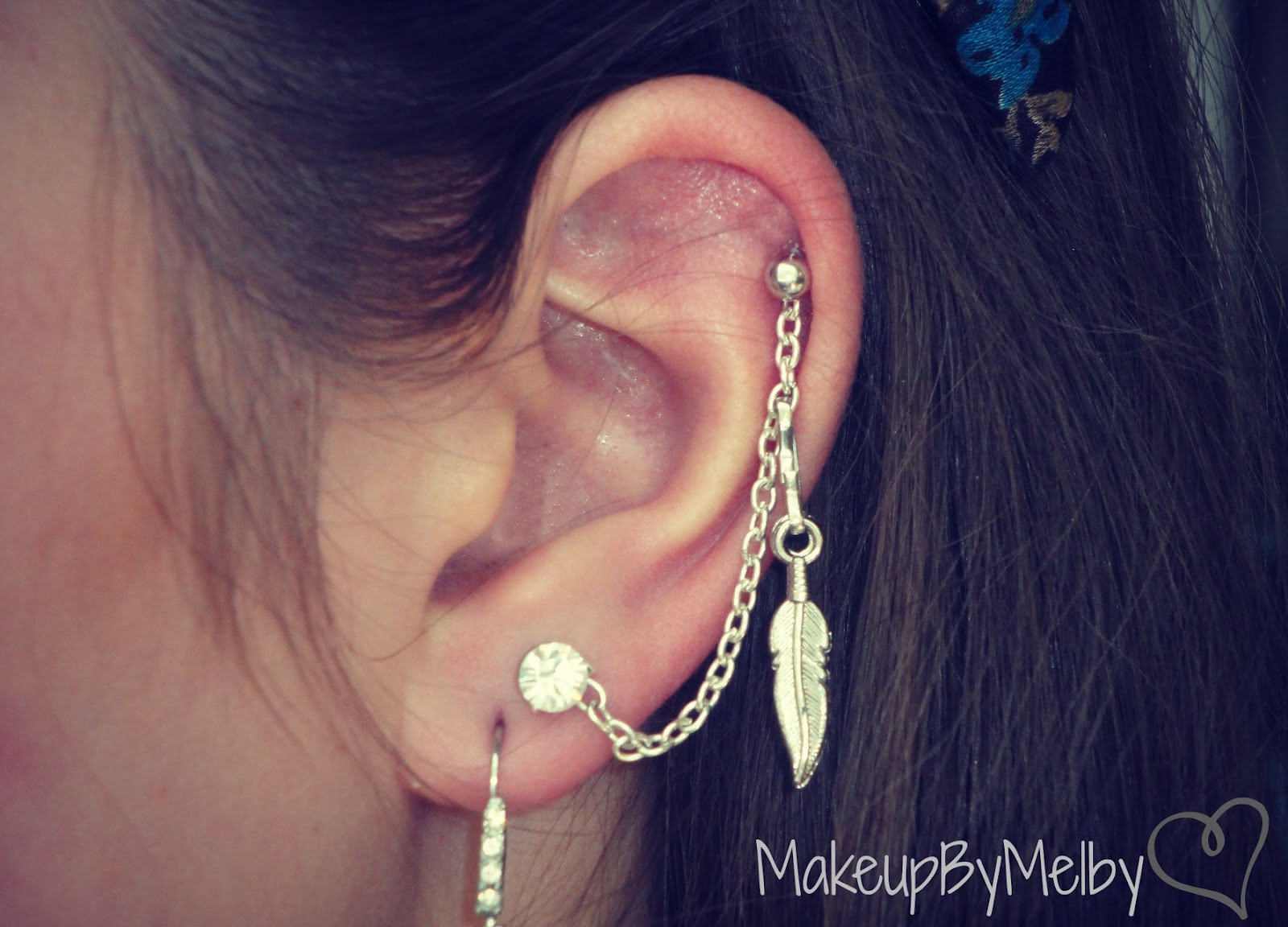 MakeupByMelby: DIY: Ear Chain! (Cartilage to Lobe Earring)