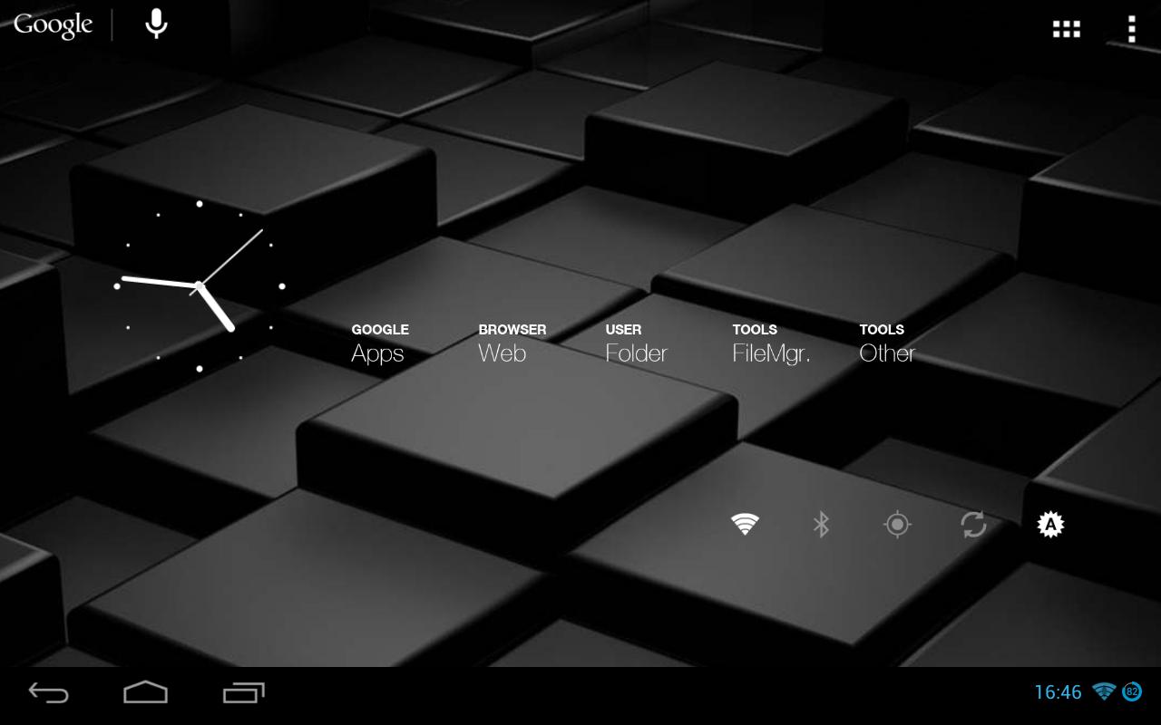 Wasters Haven Nexus7 ホーム画面に凝ってみる