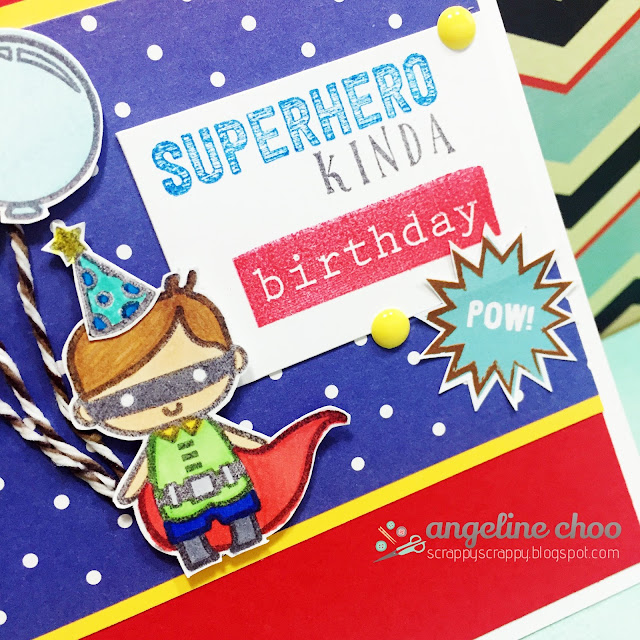 ScrappyScrappy: Superhero kinda Birthday #scrappyscrappy #sweetstampshop #stamp #card #handmade #superhero #birthday
