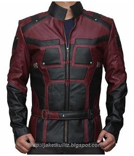 Gambar Jaket Kulit Daredevil Custom (Charlie Cox)