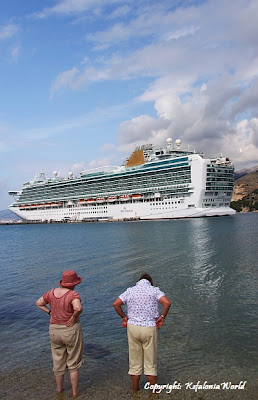 cruise ship in Argostoli Kefalonia