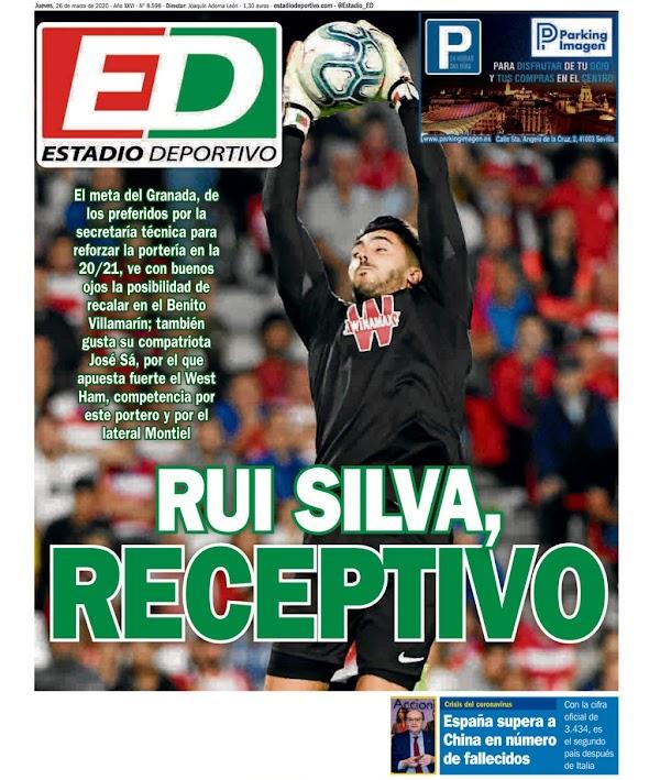 """Betis, Estadio Deportivo: """"Rui Silva, receptivo"""""""