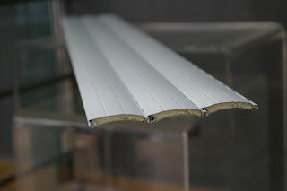 Lamas de persianas de PVC, corte transversal