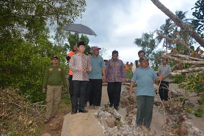 Wabup Arifin Prihatin Dengan Kondisi Tanah Ambles di Terbis yang Semakin Parah