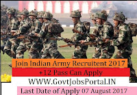 Join Indian Army Recruitment 2017– 320 Tradesman Mate & Fireman