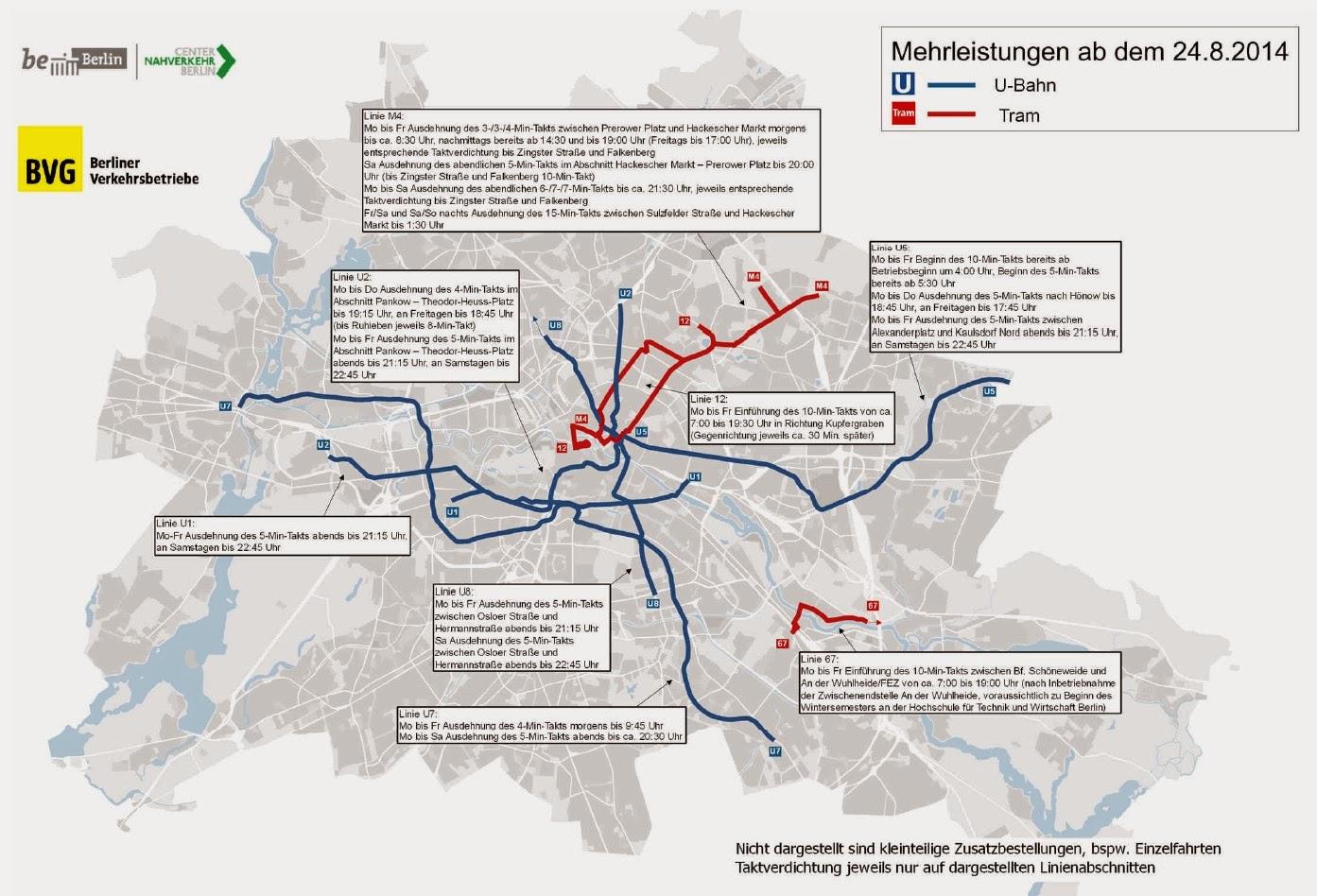 U Bahn Straßenbahn Bus Land Berlin Bestellt Mehr Leistung Bei