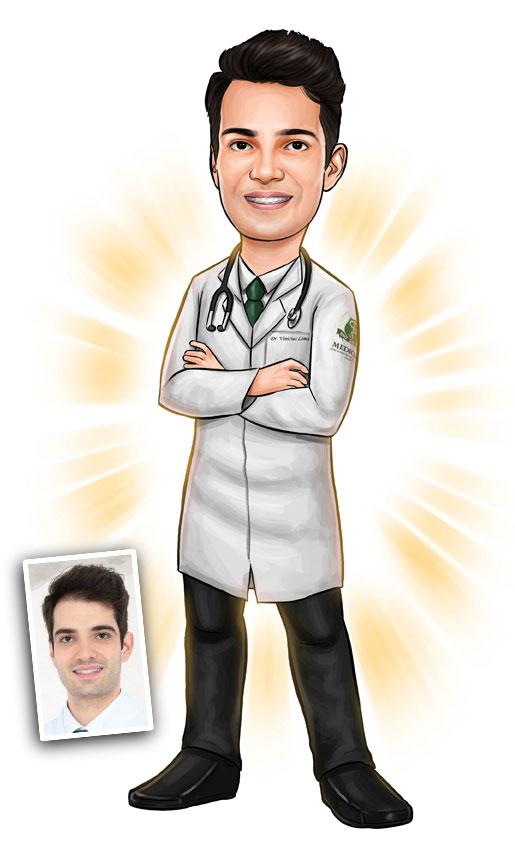 caricatura formandos formatura medico medicina