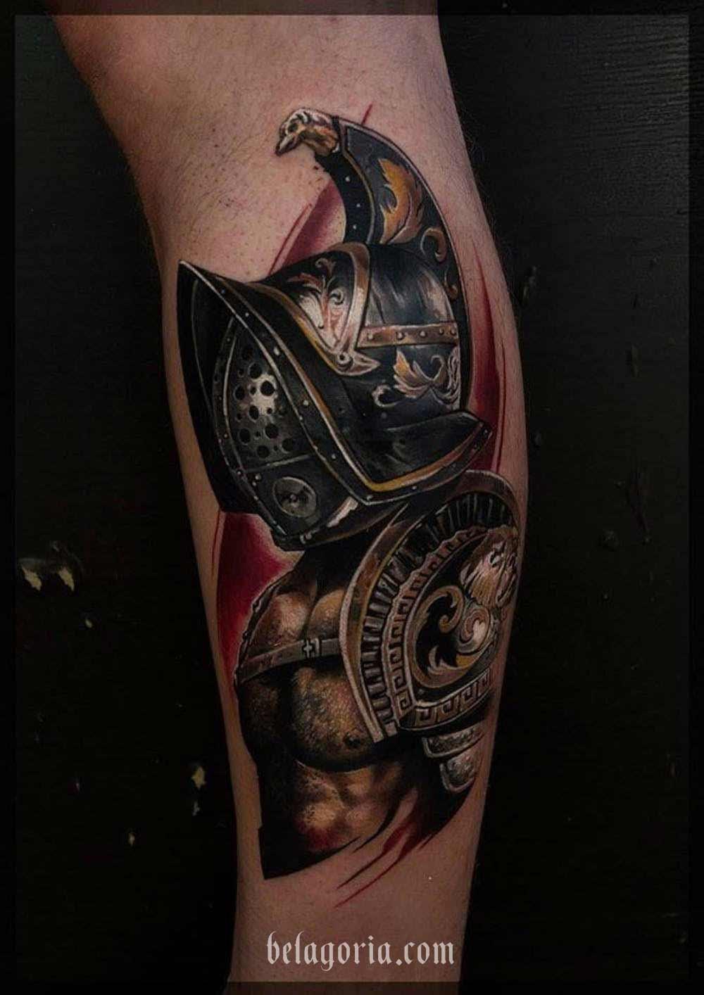 tatuaje de gladiador Por Pavel Roch.