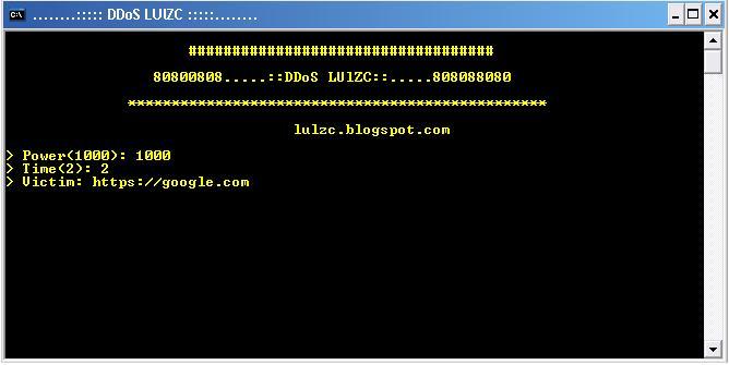 asd - Source Tool DDOS BY Lulzc Version 1