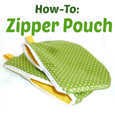 easy zipper pouch as a gift wrap