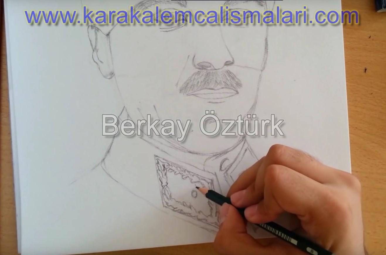 Mustafa Kemal Atatürk Karakalem Nasıl çizilir Karakalem çalışmaları