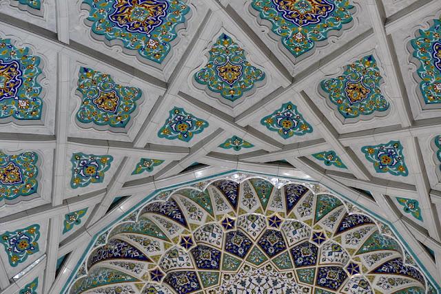 Kuppel, Sultan, Qabus, Moschee, Muscat, Oman, Ornamente, Muster, verziert