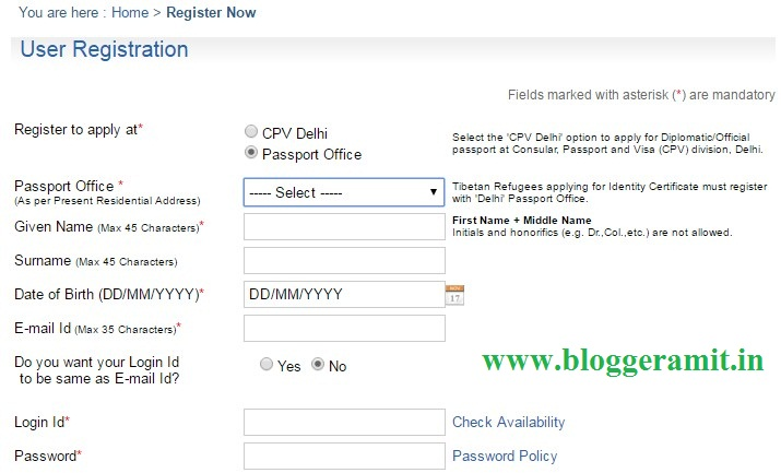 How To Apply For Passport In Hindi Blogger Amit