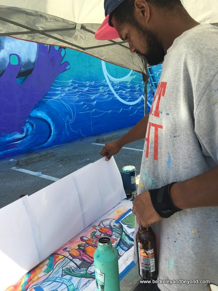 mural plans by Los Pobres Artistas at Jack London Square in Oakland, California