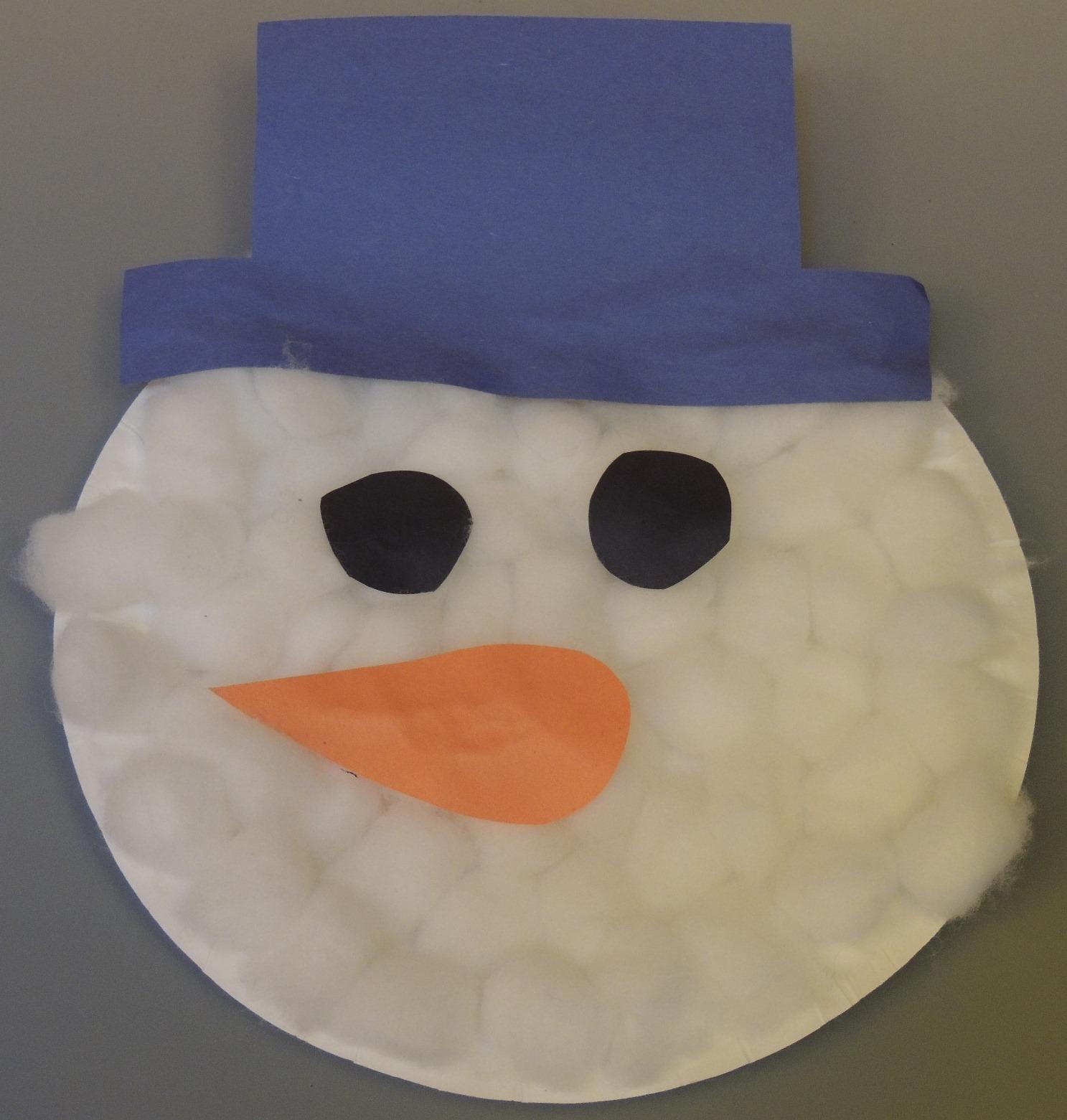 Child Care Basics Resource Blog Paper Plate Snowman