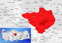 Sarıkaya ilçesinin nerede olduğunu gösteren harita.