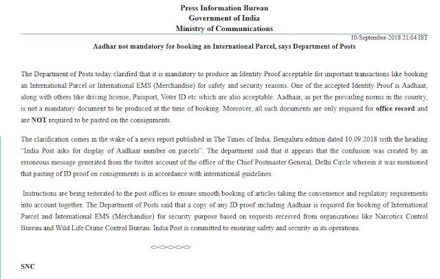 aadhar-booking-international-parcel