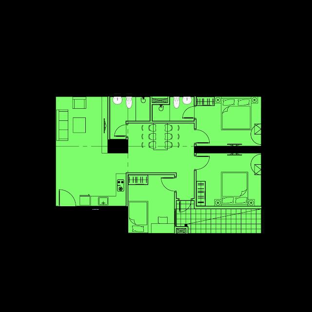 Thiết kế căn hộ C1 - 91m2 tòa River1 EuroWindow River Park