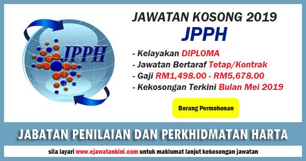 Iklan Jawatan Kosong JPPH 2019