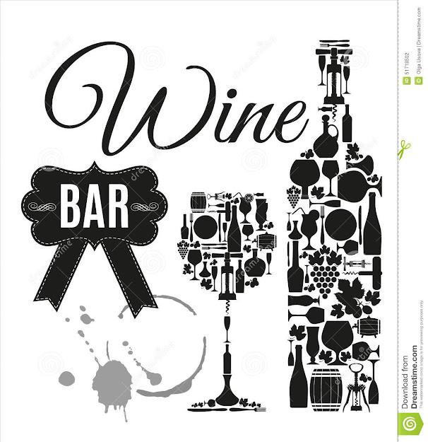 Vector Stock Illustration For Wine Bar